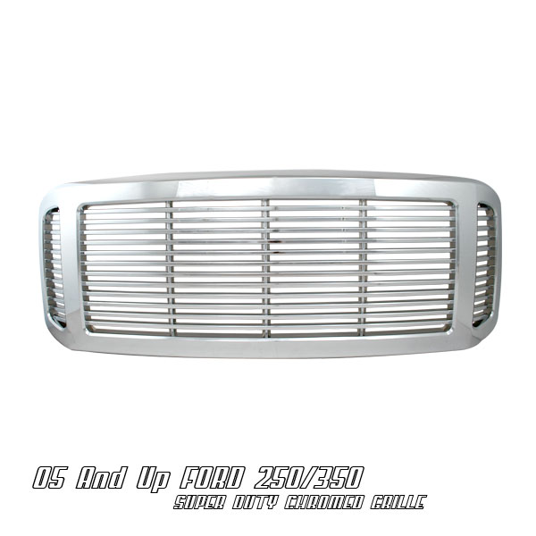 Ford Super Duty 2005-2007  Billet Style Chrome Front Grill