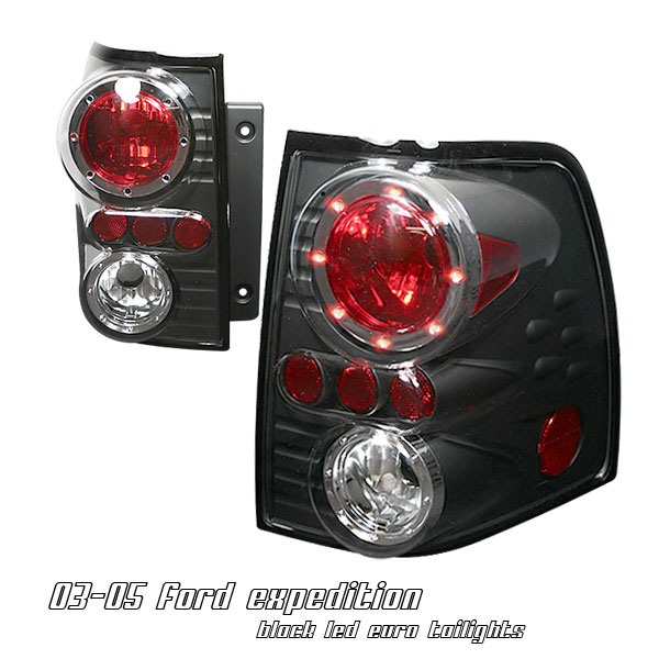 Ford Expedition 2002-2004  Black Euro Tail Lights