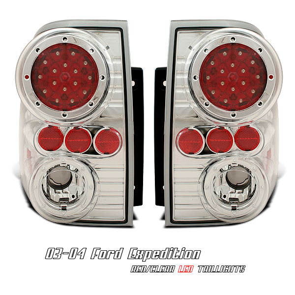 Ford Expedition 2003-2004  Chrome Euro Tail Lights
