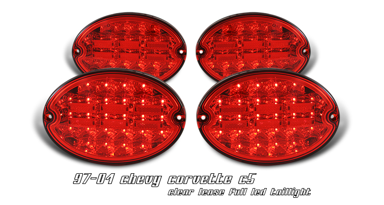Chevrolet Corvette 1997-2000 C5 Red Led Tail Lights