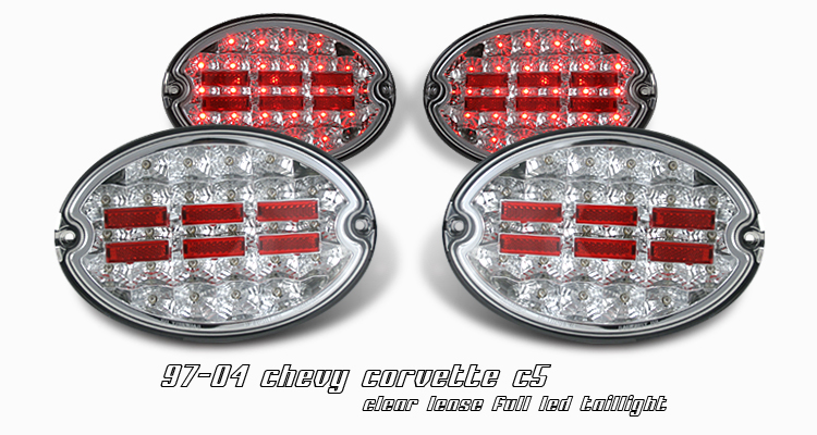 Chevrolet Corvette 1997-2000 C5 Clear Led Tail Lights