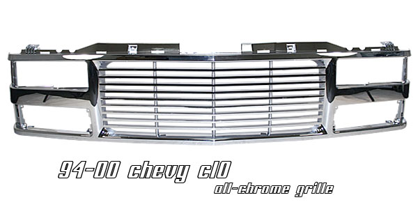Chevrolet Full Size Pickup 1994-1998  Billet Style Chrome Front Grill