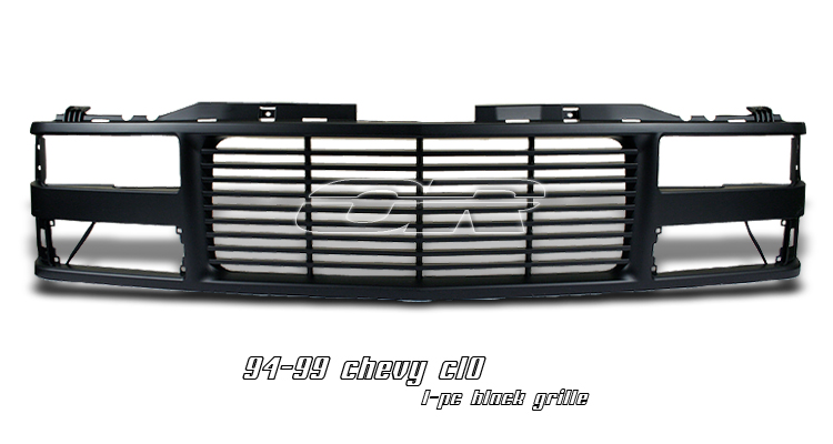 Chevrolet Full Size Pickup 1994-1998  Billet Style Black Front Grill