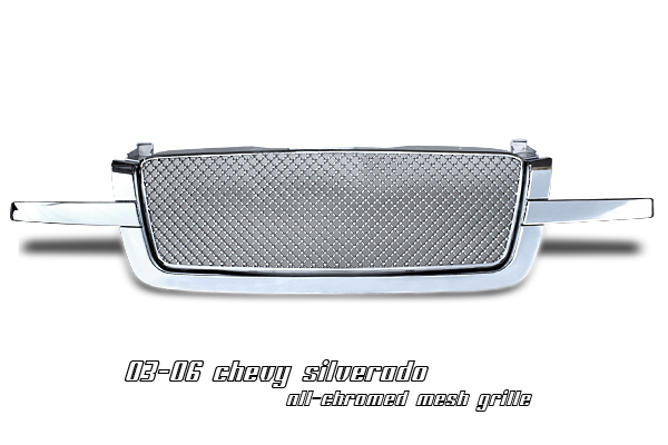 Chevrolet Silverado 2003-2005  Diamond Style Chrome Front Grill