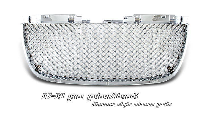 Gmc Yukon 2007-2008  Diamond Style Chrome Front Grill