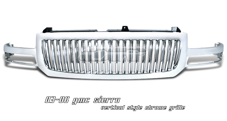 GMC Sierra 2003- 2006 Vertical Chrome Grill
