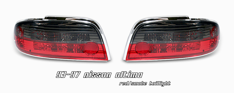 Nissan Altima 1993-1997  Red / Smoke Euro Tail Lights