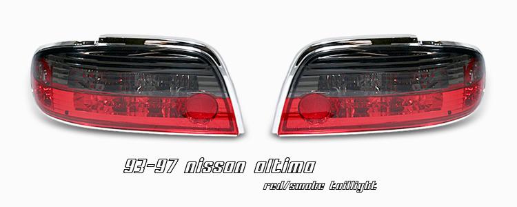 Nissan Altima 1993-1997  Red / Smoke Euro Tail Lights