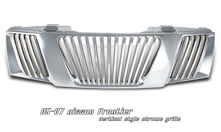 Nissan Frontier 2005-2007  Vertical Style Chrome Front Grill