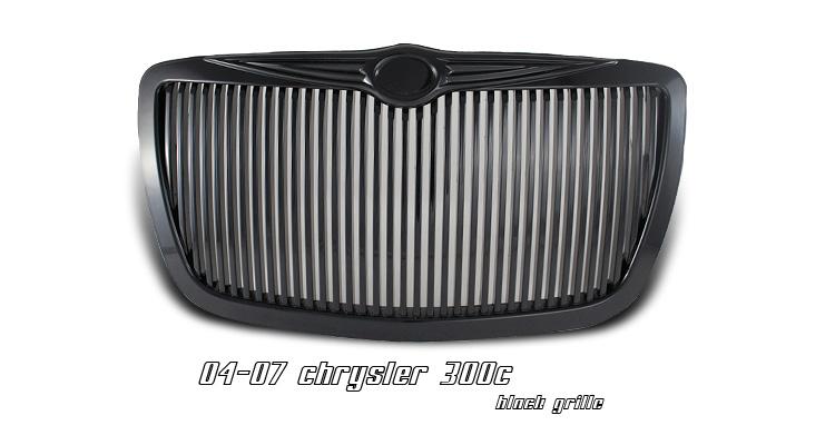 Chrysler 300/300C 2004-2007 Black Grill Insert