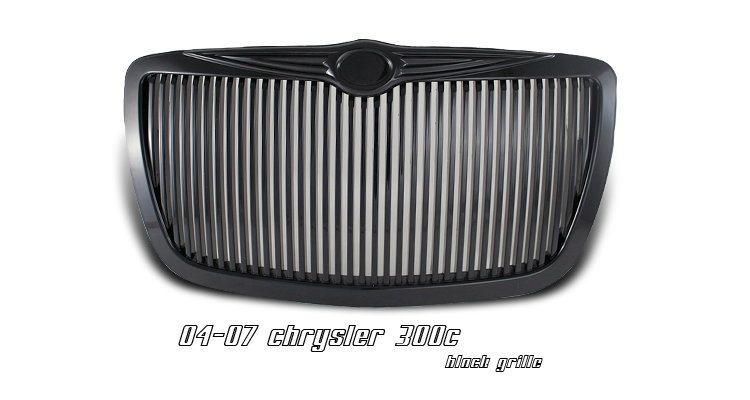 Chrysler 300c 2005-2007  Vertical Style Black Front Grill
