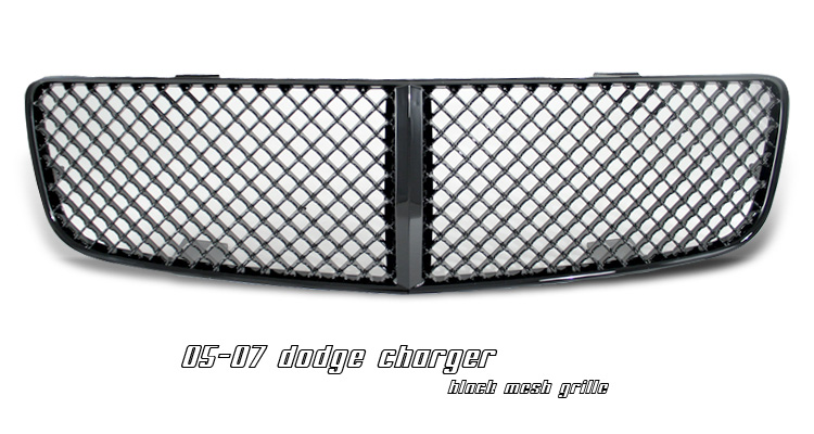 Dodge Charger 2006-2008 Black Diamond Style Grill Insert