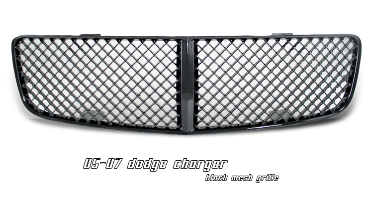 Dodge Charger 2005-2007  Diamond Style Black Front Grill