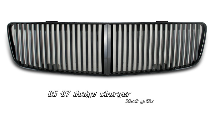 Dodge Charger 2006-2007 Black Vertical Grill Insert