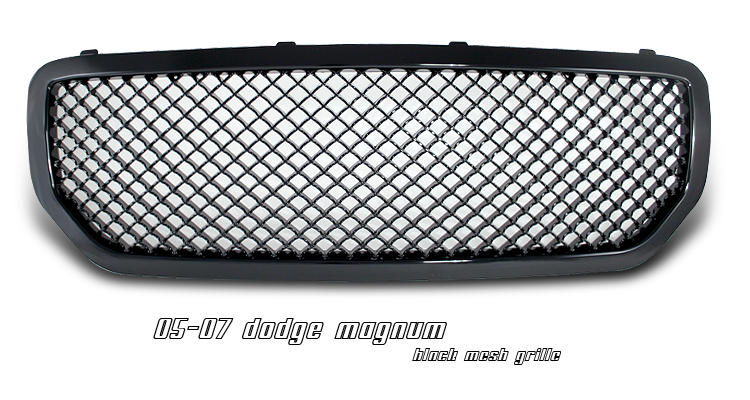 Dodge Magnum 2005-2007  Diamond Style Black Front Grill