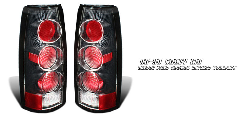 Cadillac Escalade 1999-2000  Carbon Fiber Euro Tail Lights