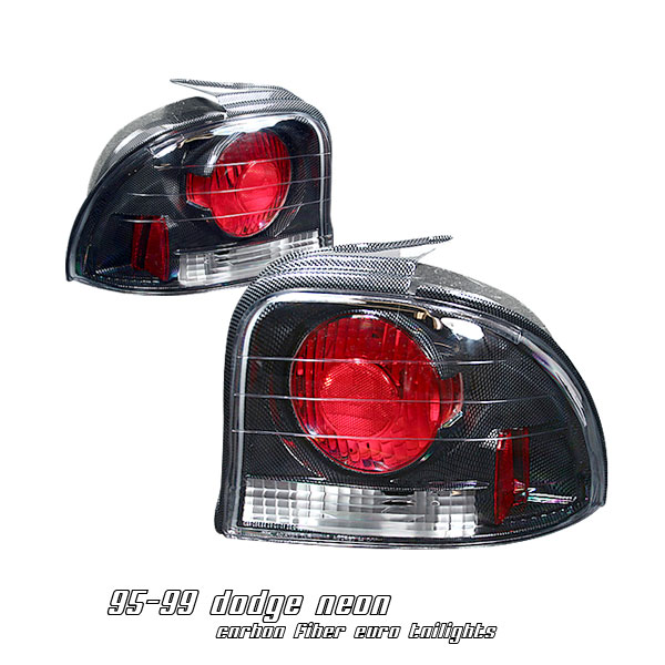 Dodge Neon 1995-1999  Carbon Fiber Euro Tail Lights