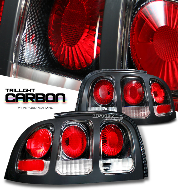 Ford Mustang 1994-1998  Carbon Fiber Euro Tail Lights