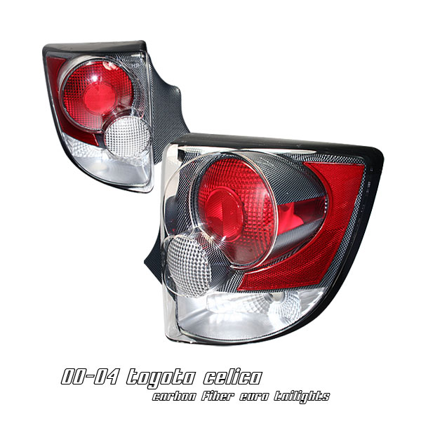 Toyota Celica 2000-2004  Carbon Fiber Euro Tail Lights