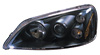 2001 Honda Civic  Projector Headlights (Black) TYC