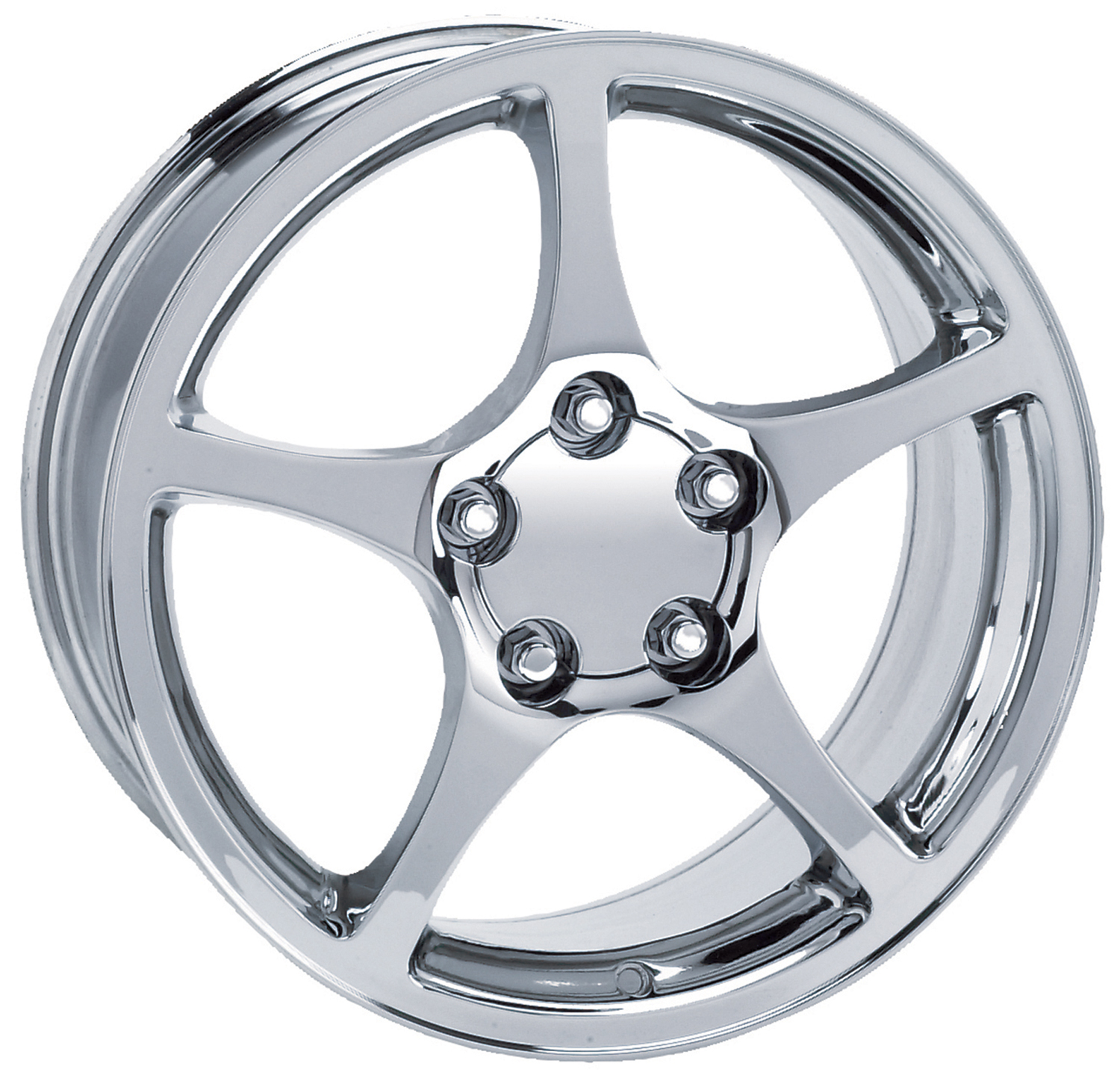 Chevrolet Corvette 1997-2000 17x9.5 5x4.75 +53 - 2000 Style Wheel - Chrome With Cap