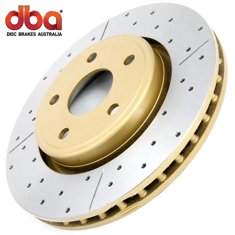 Ford Mustang V6 2011-2014 Dba Street Series Cross Drilled And Slotted - Front Brake Rotor