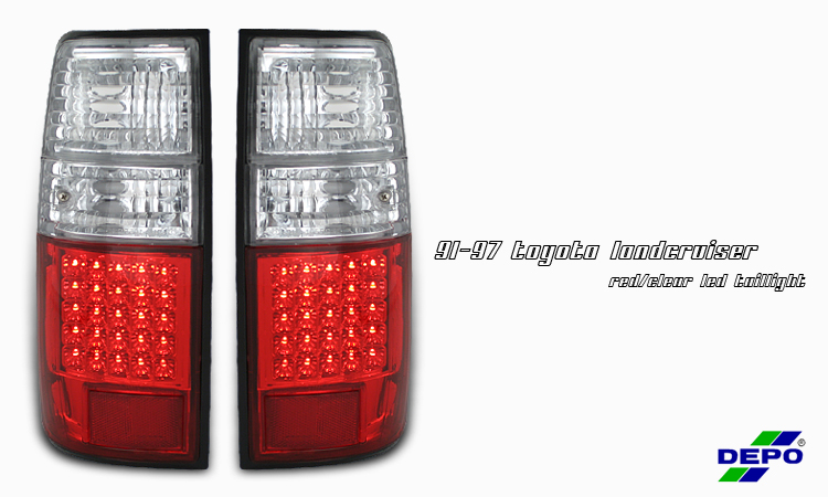 Toyota Landcruiser 1991-1997  Chrome Euro Tail Lights