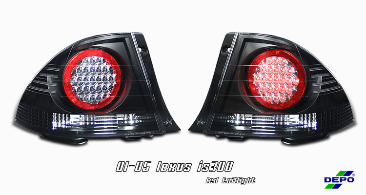 Lexus Is300 2001-2005  Chrome Euro Tail Lights