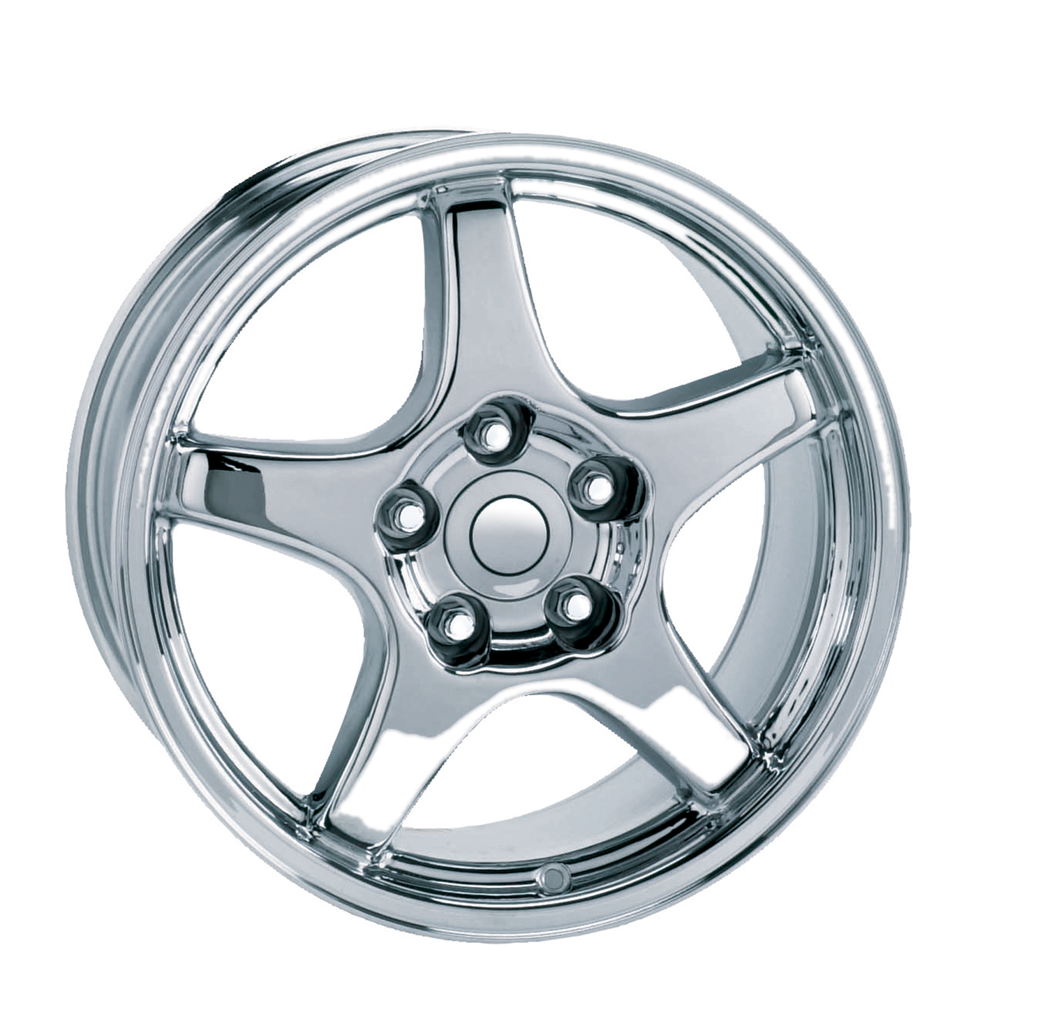 Chevrolet Corvette 1984-1996 17x9.5 5x4.75 +38 C4 Zr1 Style Wheel - Chrome With Cap