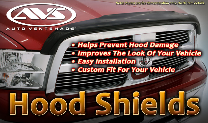 Dodge Caravan 1996-2000  Bugflector™ Hood Shield (smoke)