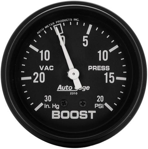 Auto Meter 0-20/0-30 2-5/8 inch Boost Gauge