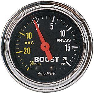 Auto Meter 0-20/0-30 2-1/16 inch Boost Gauge