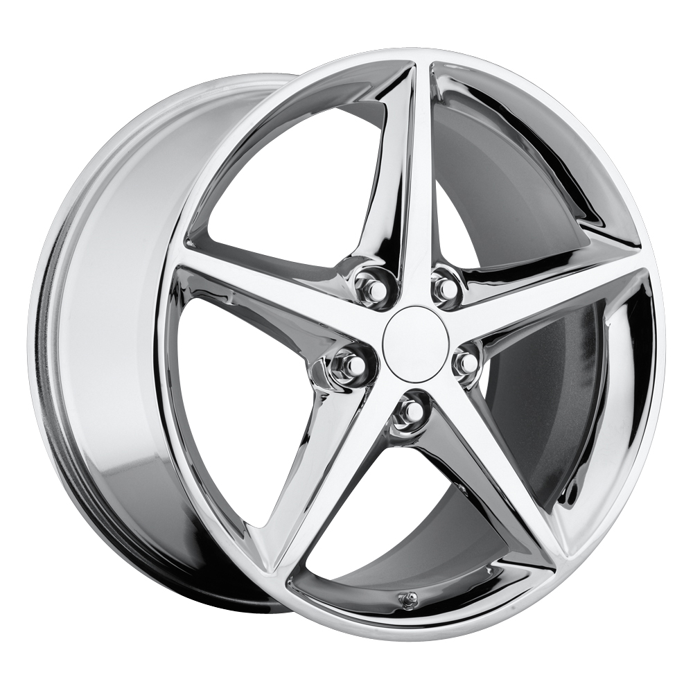 Chevrolet Corvette 1997-2012 18x8.5 5x4.75 +56 2011 C6 Style Wheel - Chrome With Cap