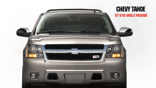 Chevrolet Suburban  2007-2011 - Rbp Rx Series Studded Frame Main Grille Black 2pc
