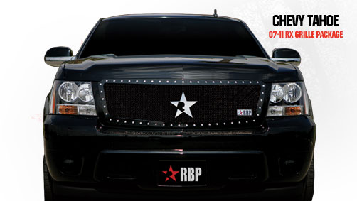 Chevrolet Suburban  2007-2011 - Rbp Rx Series Studded Frame Main Grille Black 1pc