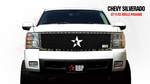 Chevrolet Silverado 1500 2007-2011 - Rbp Rx Series Studded Frame Main Grille Black 1pc
