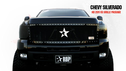 Chevrolet Silverado 2500hd/3500hd 2007-2010 - Rbp Rx Series Studded Frame Main Grille Black 1pc