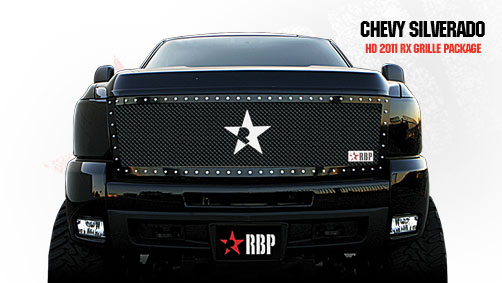 Chevrolet Silverado 2500hd/3500hd 2011-2012 - Rbp Rx Series Studded Frame Main Grille Black 1pc