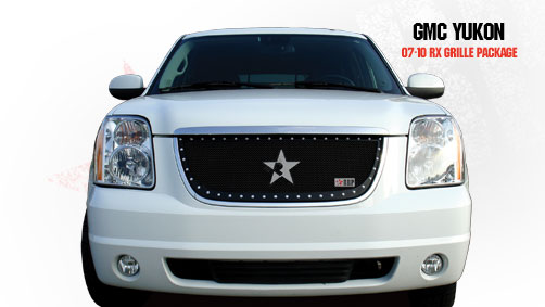 Gmc Yukon /Yukon Xl (includes Denali) 2007-2010 - Rbp Rx Series Studded Frame Main Grille Black 1pc