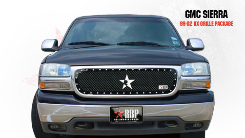 Gmc Sierra (all Models Except C3) 1999-2002 - Rbp Rx Series Studded Frame Main Grille Black