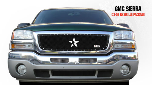 Gmc Sierra (all Models Except C3) 2003-2006 - Rbp Rx Series Studded Frame Main Grille Black