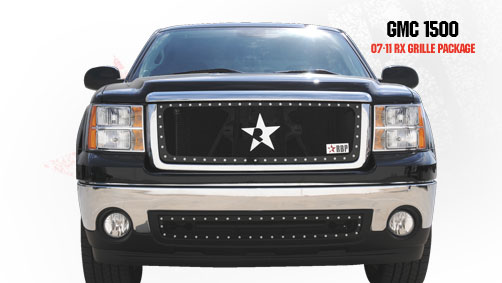 Gmc Sierra 1500 (except All - Terrain Edition) 2007-2011 - Rbp Rx Series Studded Frame Main Grille Black