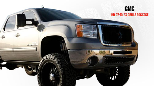 Gmc Sierra 2500hd, 3500 2007-2010 - Rbp Rx Series Studded Frame Main Grille Black