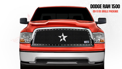 Dodge Ram 1500 2009-2011 - Rbp Rx Series Studded Frame Main Grille Black 1pc