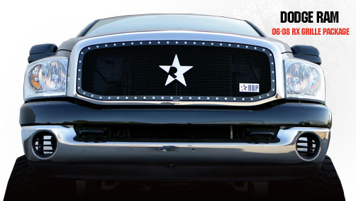 Dodge Ram 1500/2500/3500 2006-2008 - Rbp Rx Series Studded Frame Main Grille Black 1pc