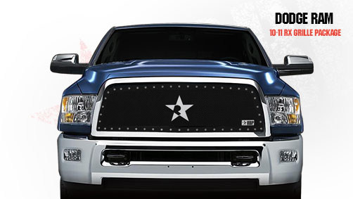 Dodge Ram 2500/3500 2010-2011 - Rbp Rx Series Studded Frame Main Grille Black 1pc