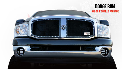 Dodge Ram 1500/2500/3500 2006-2008 - Rbp Rx Series Studded Frame Main Grille Black 2pc