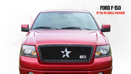 Ford F150  1997-1998 - Rbp Rx Series Studded Frame Main Grille Black 1pc