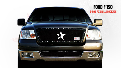 Ford F150 (except Harley Edition) 2004-2008 - Rbp Rx Series Studded Frame Main Grille Black 1pc