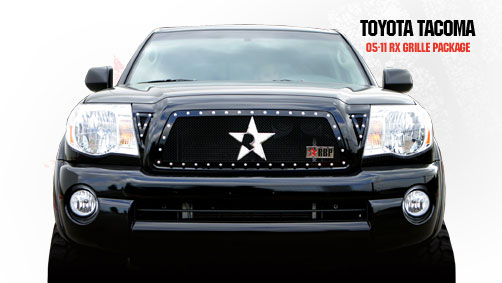 Toyota Tacoma  2005-2011 - Rbp Rx Series Studded Frame Main Grille Black